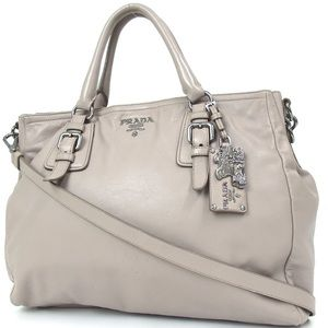 SOLD Authentic PRADA 2way Shoulder Leather Handbag